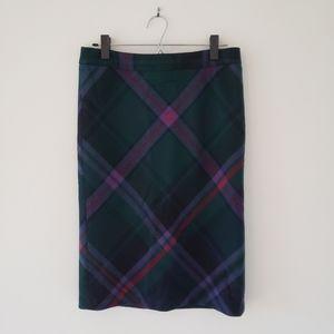 Wool Blend Eddie Bauer Plaid Skirt Size 4, New